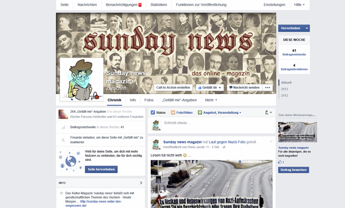 sunday news facebook